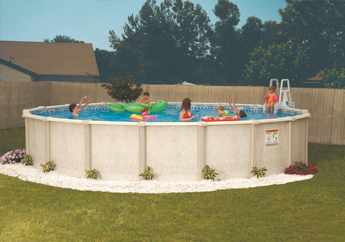 Above ground pool companies in okc round designs for Above ground pool decks tulsa